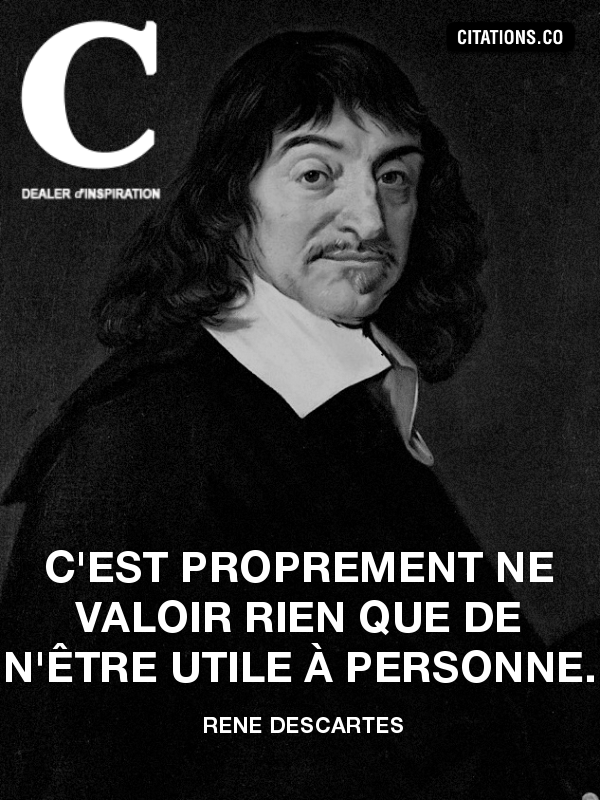 Citation de rené descartes