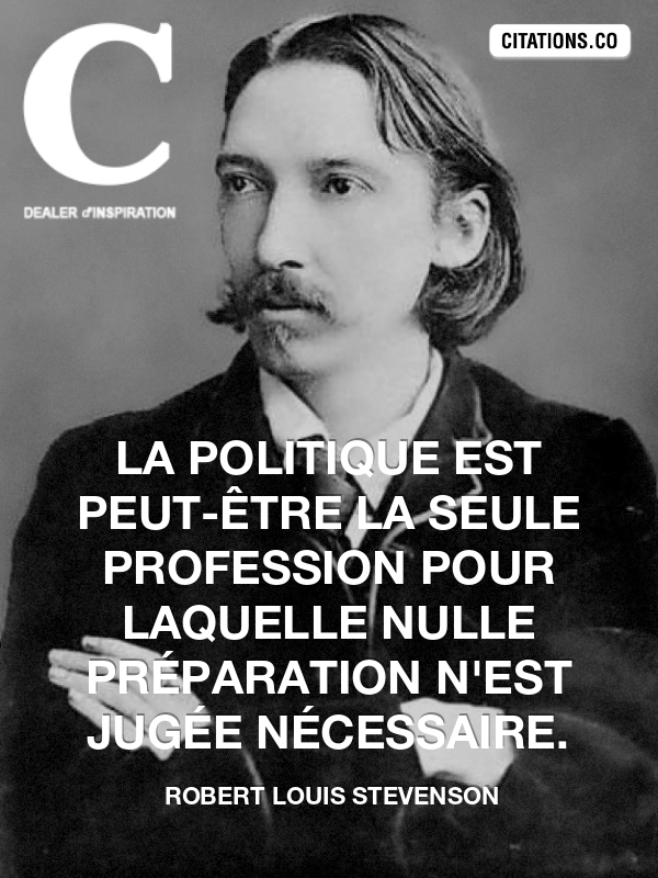 Citation de robert louis stevenson