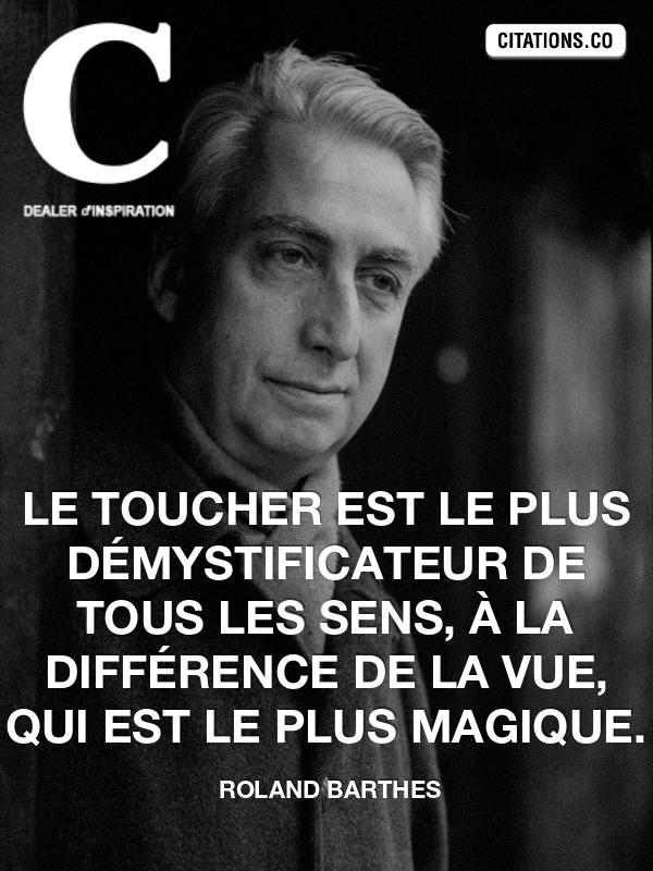 Citation de roland barthes