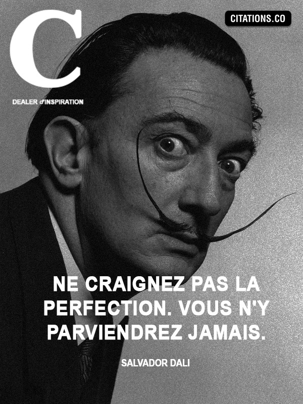 Citation de Salvador dali