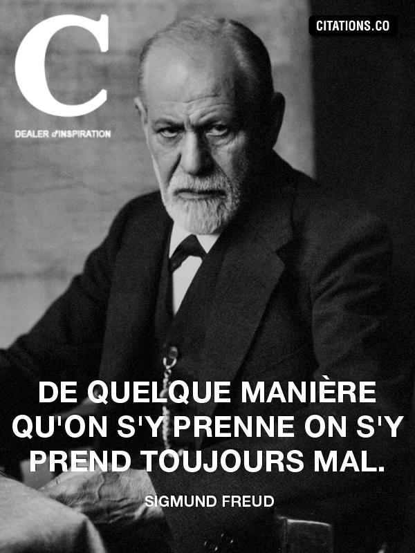Citaten Freud : Citations freud recherche de phrase cultes