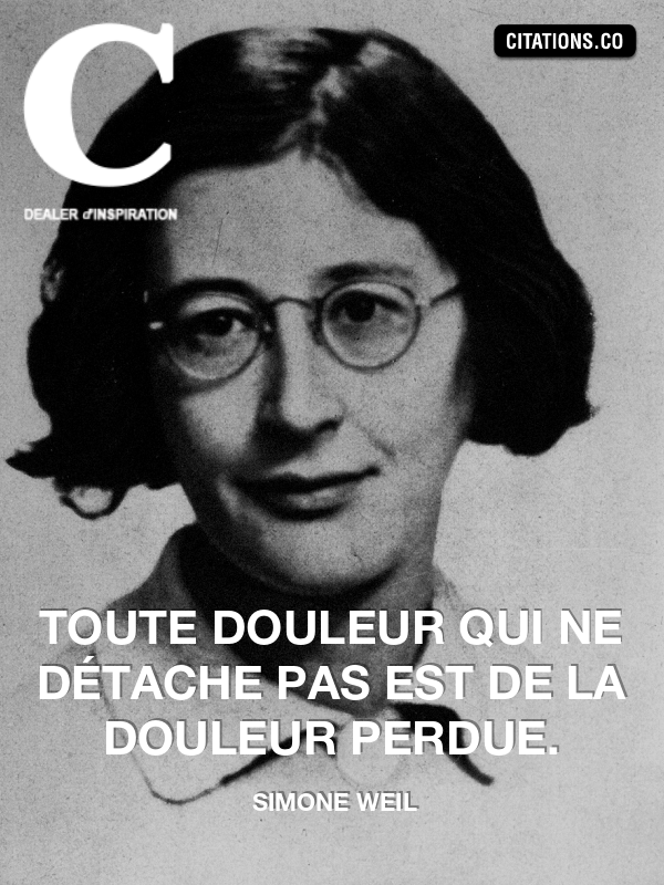Citation de simone weil