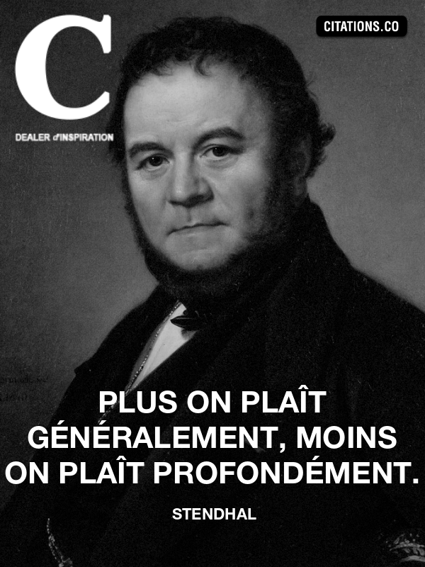 Citation de Stendhal