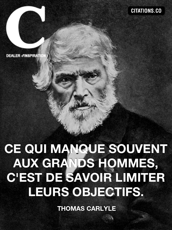 Citation de thomas carlyle