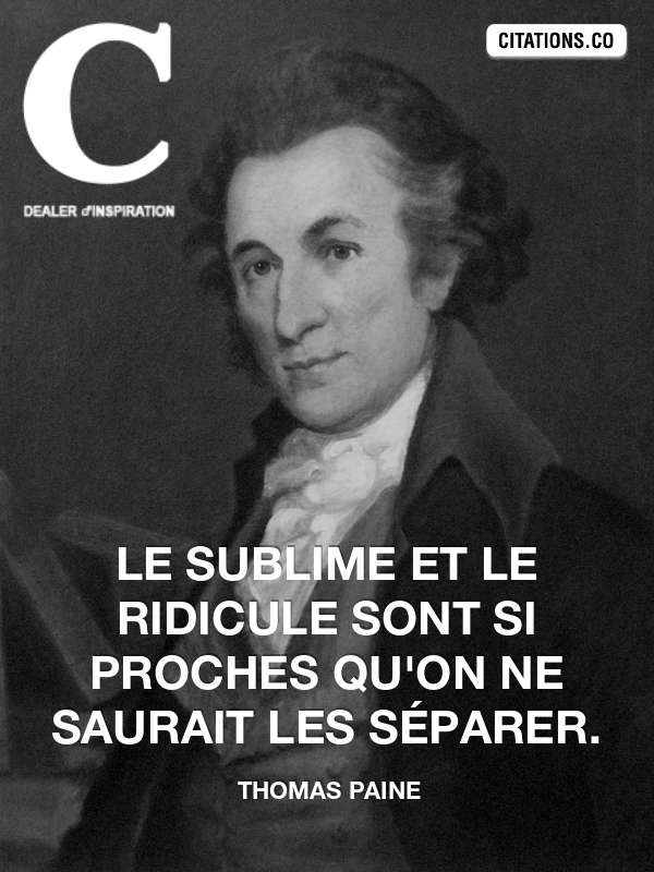 Citation de thomas paine
